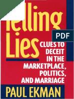 TELLING LIES PORTUGUÊS