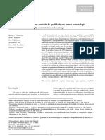 Dez anos de experiência em controle de qualidade em imuno-hematologia