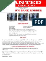 Jackson Regions Bank Robber 7.9.21