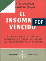 El Insomnio Vencido por el Dr. P. Oudinot y Paul C. Jagot