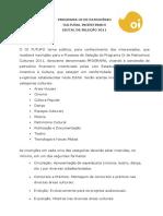 Regulamento Edital Cultura 2011 Oi