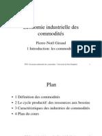 Economie industrielle des commodités