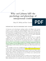 Why can't Johnny kill - the psychology and physiology of interpersonal combat