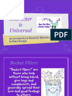 Character Counts Bucket Fillers PPT