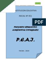 p.e.a.i. Institucion Educativa Inicial Nº 451 Proyecto Educativo Ambiental Integrado i.e.i. Nº 451