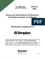 Smoke And Heat Detector Performance NFPA Fire Journal Jan 84