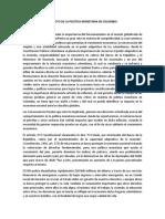Impacto de La Política Monetaria en Colombia