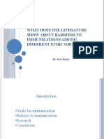 What Does the literature show about barriers to
