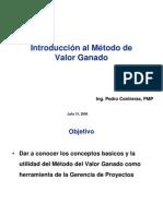 2006 - Introduccion al metodo del valor ganado - Pedro Contreras