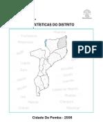 Estatisticas Do Distrito de Pemba 2008