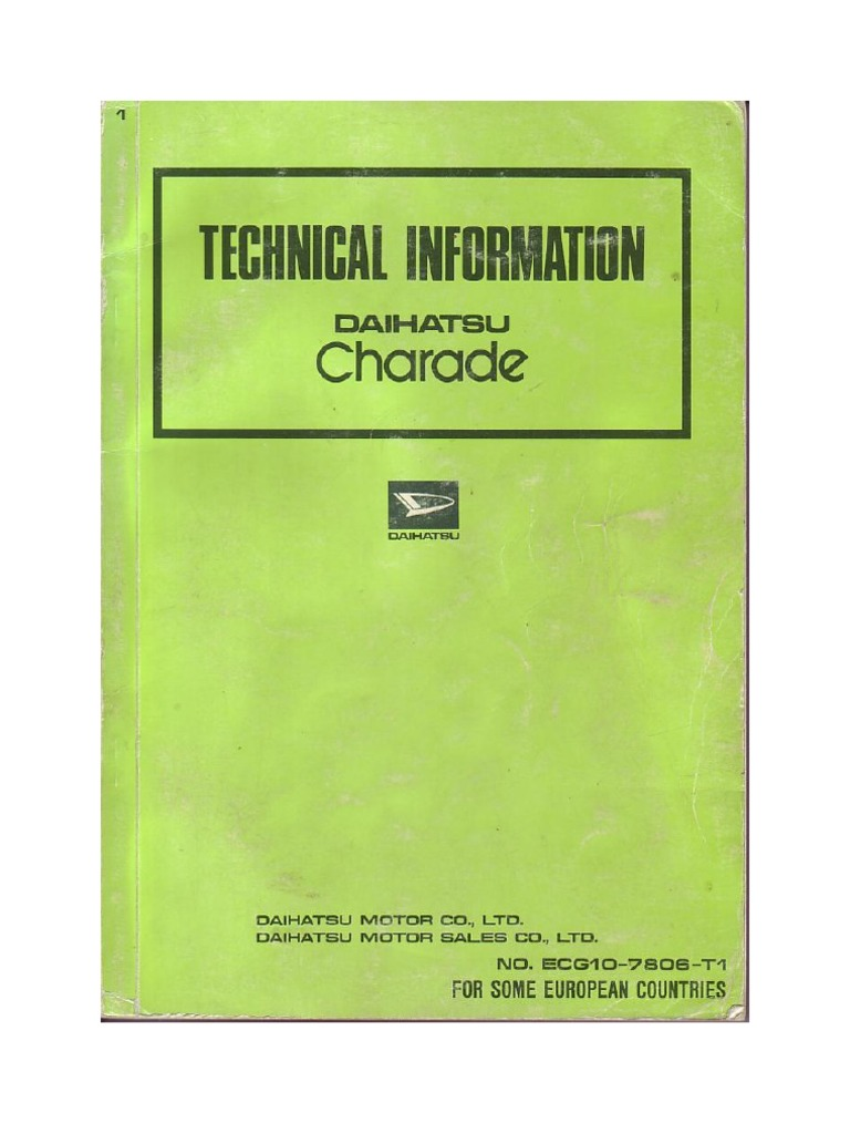 Daihatsu Charade Wiring Diagram G200 Electrical Diagrams Schematics G102 Jdm
