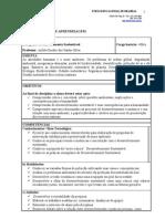 PLANO DE ENSINO - DESENVOVIMENTO SUSTENTÀVEL.II