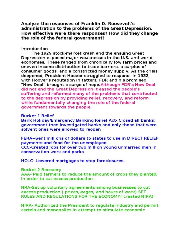 franklin d roosevelt and the new deal worksheet