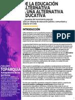 Consejos de Amigxs #1. De la educación alternativa a una alternativa educativa. Propuestas del movimiento popular para un sistema de educación público, comunitario y popular en Chile