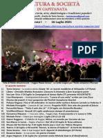 Cultura & Società in Capitanata N. 44 Del 16-07-2021
