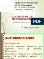 TOXICOLOGIA DE ANTIMICROBIANOS