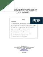 Inv.accion participativa,propuesta comunitaria