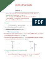 Equation d'une droite