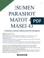 RESUMEN PARASHOT MATOT 42 MASEI 43