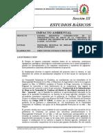 4) Estudios Básicos - Impacto Ambiental