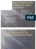 Assessment and care of adults at risk for Suicide