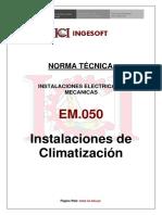 EM.050 - instalaciones de climatizacion