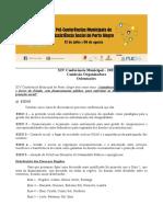 Orientações para os Encontros Preparatórios e Pré- Conferências