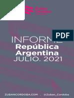 Informe Nacional Julio 2021