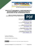 IMPACTO DO TREINAMENTO, COMPROMETIMENTO E ENTRINCHEIRAMENTO ORGANIZACIONAIS EM SERVIDORES DE UMA UNIVERSIDADE PÚBLICA