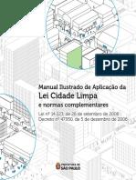 CARTILHA LEI CIDADE LIMPA SÃO PAULO MARÇO 2021