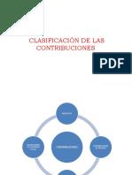 CLASIFICACIÓN DE LAS CONTRIBUCIONES