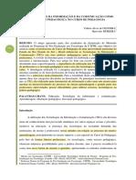 AS TECNOLOGIAS DA INFORMAÇÃO E DA COMUNICAÇÃO COMO MEDIAÇÃO PEDAGÓGICA NO CURSO DE PEDAGOGIA