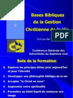 Bases Bibliques de La Gestion Chrétienne de La Vie (1)