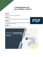 Fundamentos de Programación en Python - Módulo 1
