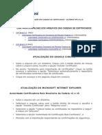 Procedimento Instalacao Cadeia de Certificados Sistemas RFB
