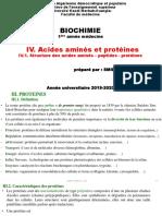 Cours Acides Aminés Et Protéines 2