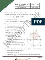 Devoir de Synthèse N°2 - Math - 3ème Mathématiques (2013-2014) Mr Mebbeb Tarek