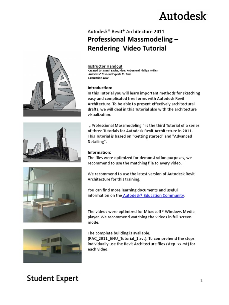 Learn revit 2011 with cadclip video tutorials | learning 3d.