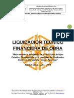 Informe de Liquidacion Tecnico Financie