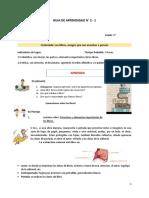 Guía de Aprendizaje N° 2-1 Lenguaje de 4°