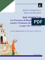 Vendittelli-Bultrini, PAX VOBISUM Con Coperta