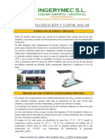 FRIO, CLIMATIZACIÓN Y VAPOR  SOLAR