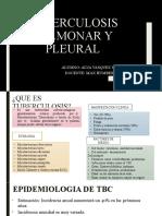 Tuberculosis Pulmonar y Pleural