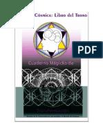 HIstoria Cosmica Libro Del Trono Cuaderno Magico de Transformacion