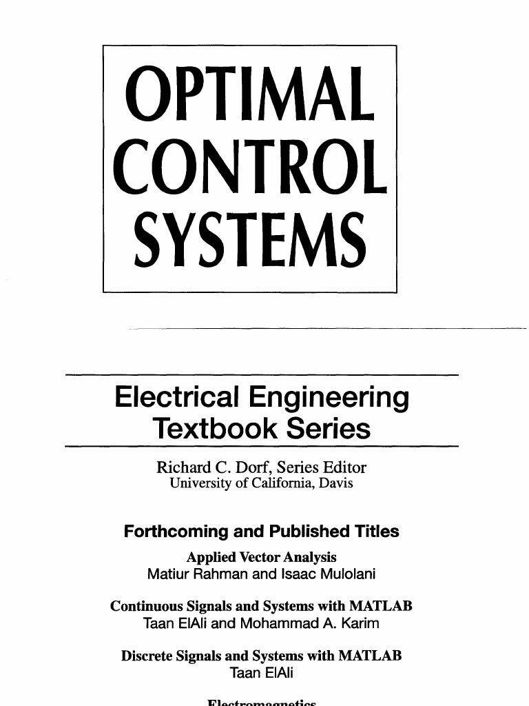 optimal control systems electrical engineering handbook rh scribd com Alternate Optimal Solution Graph kirk optimal control theory solution manual pdf
