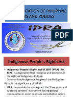 1.16 IMPLEMENTATION OF PHILIPPINE LAWS AND POLICIES