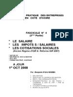 Impôts & Cotisations Sociales sur Salaires 2ème  Partie