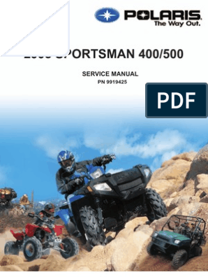 2005 Polaris Sportsman 400-500 Service Manual (NoPW) | Gallon