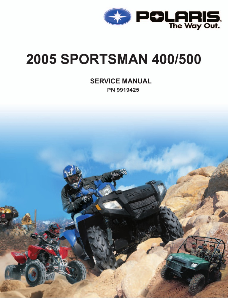 2005 polaris sportsman 500 wiring diagram 2005 polaris sportsman 400 500 service manual  nopw  gallon  2005 polaris sportsman 400 500 service