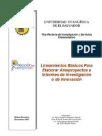 Lineamientos de Investigacin 2011